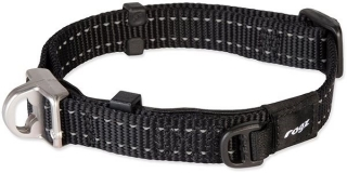 ROGZ obojok safety collar čierny 1,6 × 27 – 39 cm